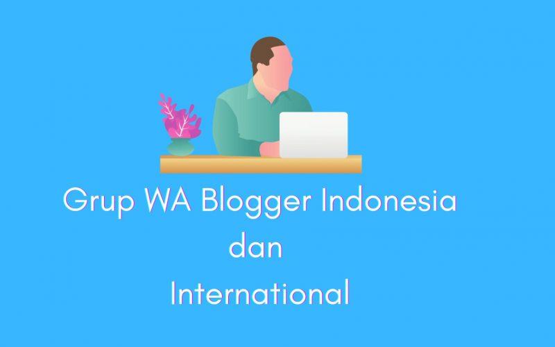 grup wa blogger indonesia